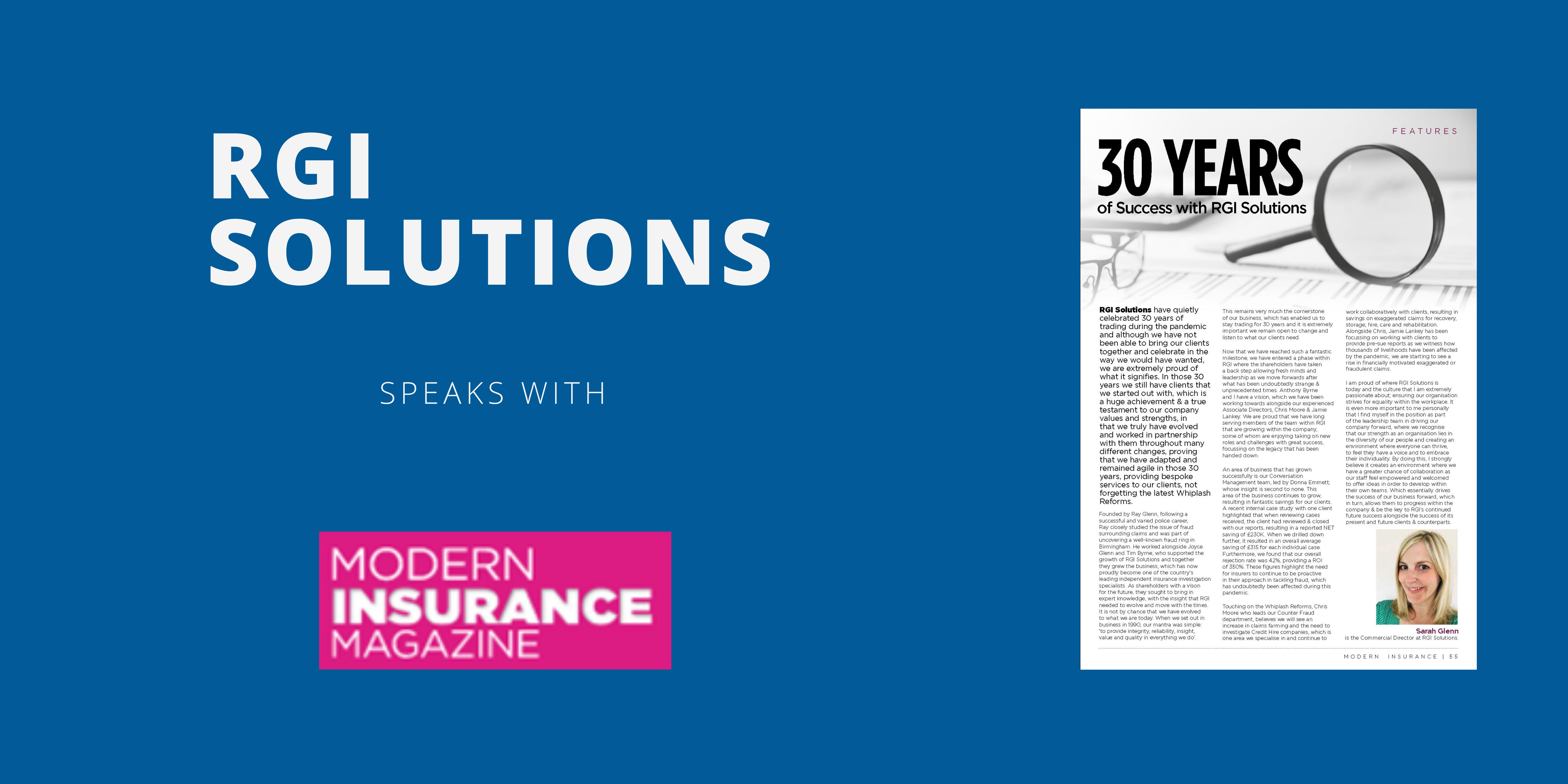 RGI Solutions Modern Insurance